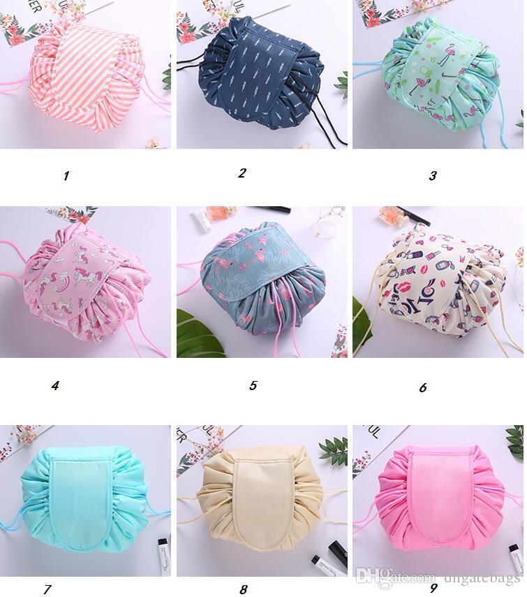 2019 Creative Lazy Cosmetic Bag Drawstring Wash Bag Makeup Organizer  Storage Travel Cosmetic Pouch Makeup Organizer Magic Toiletry Bag From  Dhgatebags c3dd610ddb19f