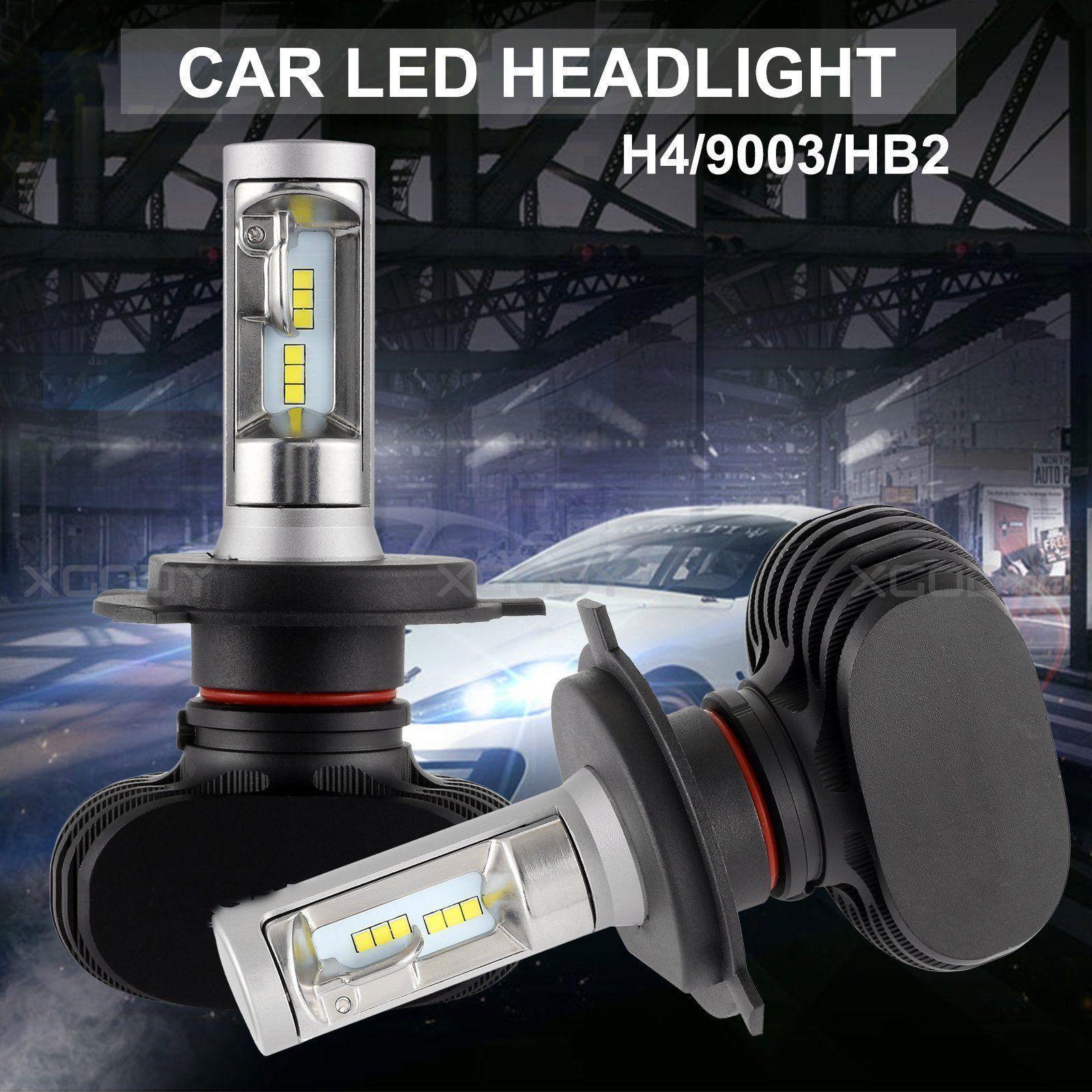 2018 Car 50w 4000lm Hi Lo Beam Cob Led Headlight Bulbs H1 H3 H7 9005