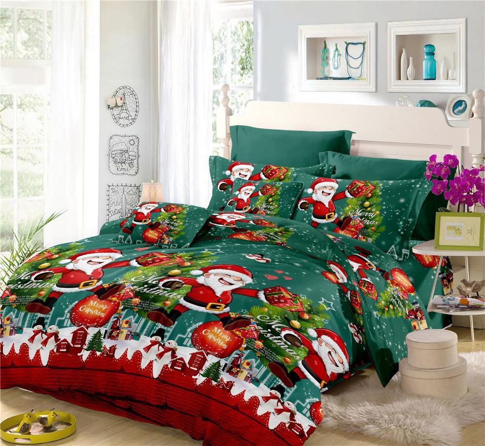 Acheter Joyeux Noel Literie Ensemble Chanceux Santa Claus Imprimer