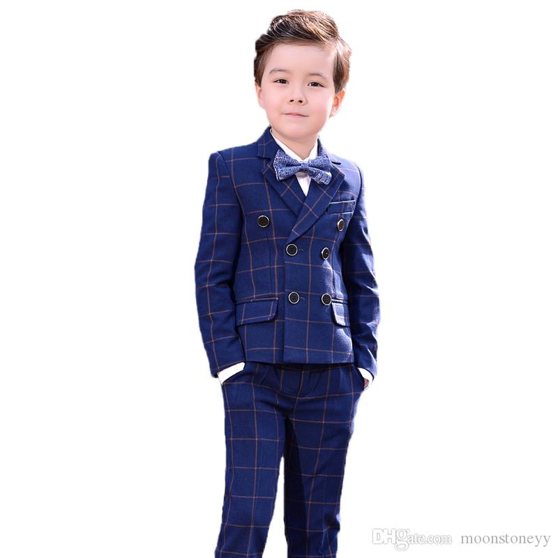 5aed057ac 2018 Boys Wedding Suits Flower Boys Clothing Sets Children Formal ...