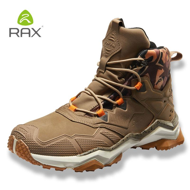 4177fb4d5f8 Rax Mens Waterproof Hiking Boots Mountain Boots Men Outdoor Sneakers  Tactical Shose Sports Shoes Genuine Leather Hiking Shoes Canada 2019 From  Yerunku