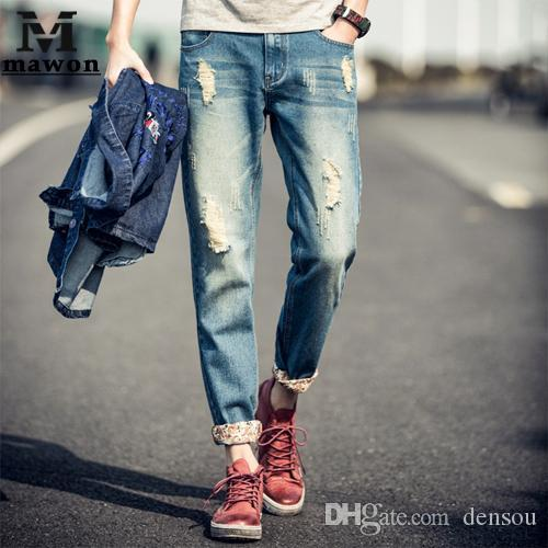 24209d9dd8 2019 Wholesale 2016 New Spring Men Jeans European Style Jeans Harem Pants  Pantalones Vaqueros Hombre From Densou