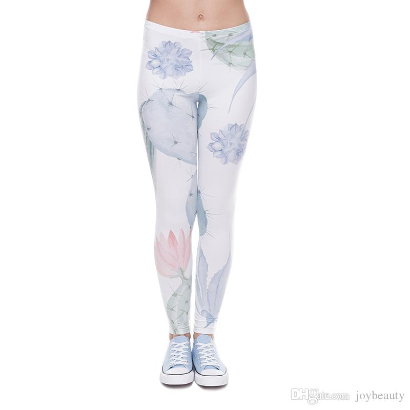 e714197d8f 2019 Women Leggings Love Hurts Cactus 3D Graphic Print Girls Workout Full  Length Spring Summer Autumn Skinny Stretch Yoga Pants Trousers J41600 From  ...