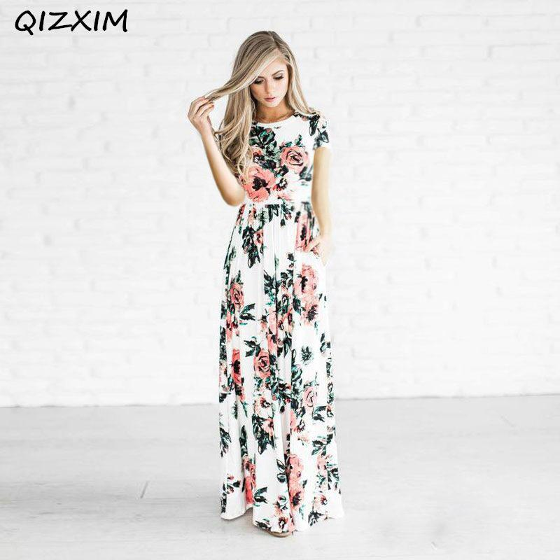 f09ba2a80c60 Vestidos de moda largos con flores – Vestidos baratos
