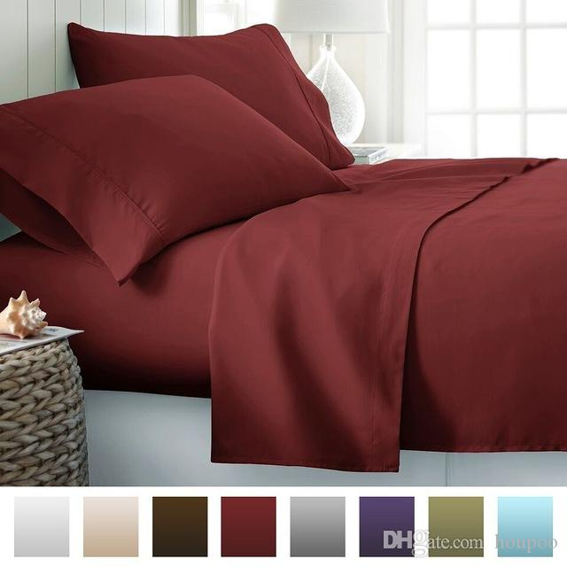 12 Colors Egyptian Twin~King Size Bedding Sets Juegos De Sábanas De Algodón Bed Sheets Queen Bedding Sets King Size Comforter Set