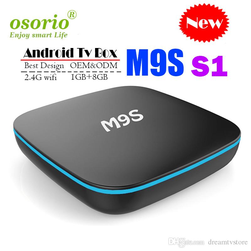 New M9S S1 Allwinner H3 Android TV Box 1GB 8GB Quad Core 100M Lan 2 4G WiFi  4K VP9 HDR10 IPTV Android Smart media player BETTER M96X HK1 X96