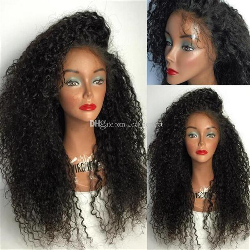 Full Lace Human Hair Wigs For Black Women Kinky Curly Wigs Pre Plucked Hairline 8-26 inches Brazilian Remy Hair Wigs