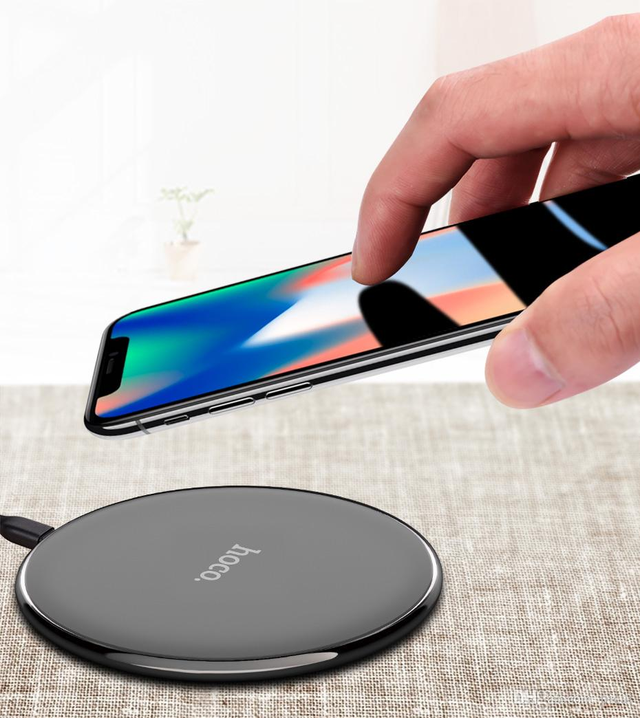 Original HOCO Qi Wireless Charger for iPhone X 8 8 Plus Portable Wireless Charging Charger Pad for Samsung Galaxy S8 S7 Edge New