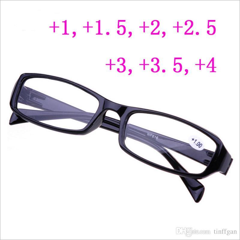9313b6e572150 Compre 2018 Hot Óculos De Leitura Das Mulheres Dos Homens Baratos Armações  De Óculos Para Hipermetropia + 100 + 150 + 200 +2.50 +3.00 + 400 Óculos  Idosos ...