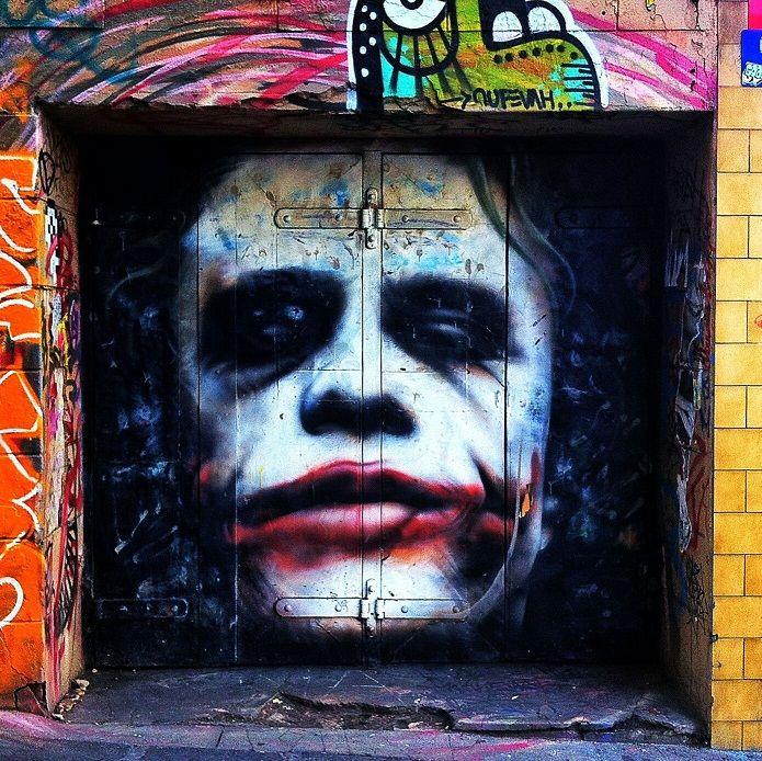 Grosshandel Graffiti Street Art Gothic Joker Hochwertige Handgemalte