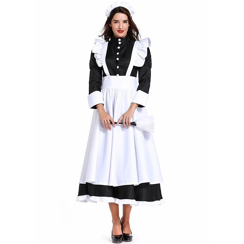 LADIES CLASSIC FRENCH MAID BUDGET COSTUM FRENCH