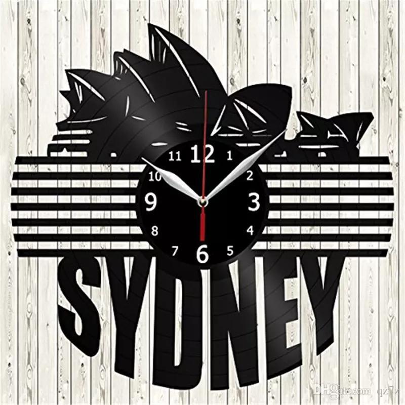 Großhandel Sydney, Australien Vinyl Wanduhr Moderne Wohnkultur Handwerk  Kreative Handgemachtes Geschenk Büro Wandkunst Einfache Dekor Wohnzimmer  Quarzuhr ...