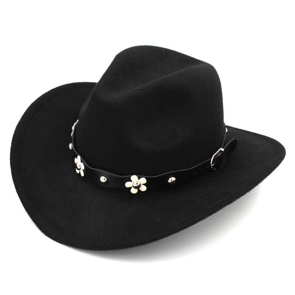 7e104078ba4b8 New Fashion Men Women Wool Blend Western Cowboy Cap Church Hat Wide ...
