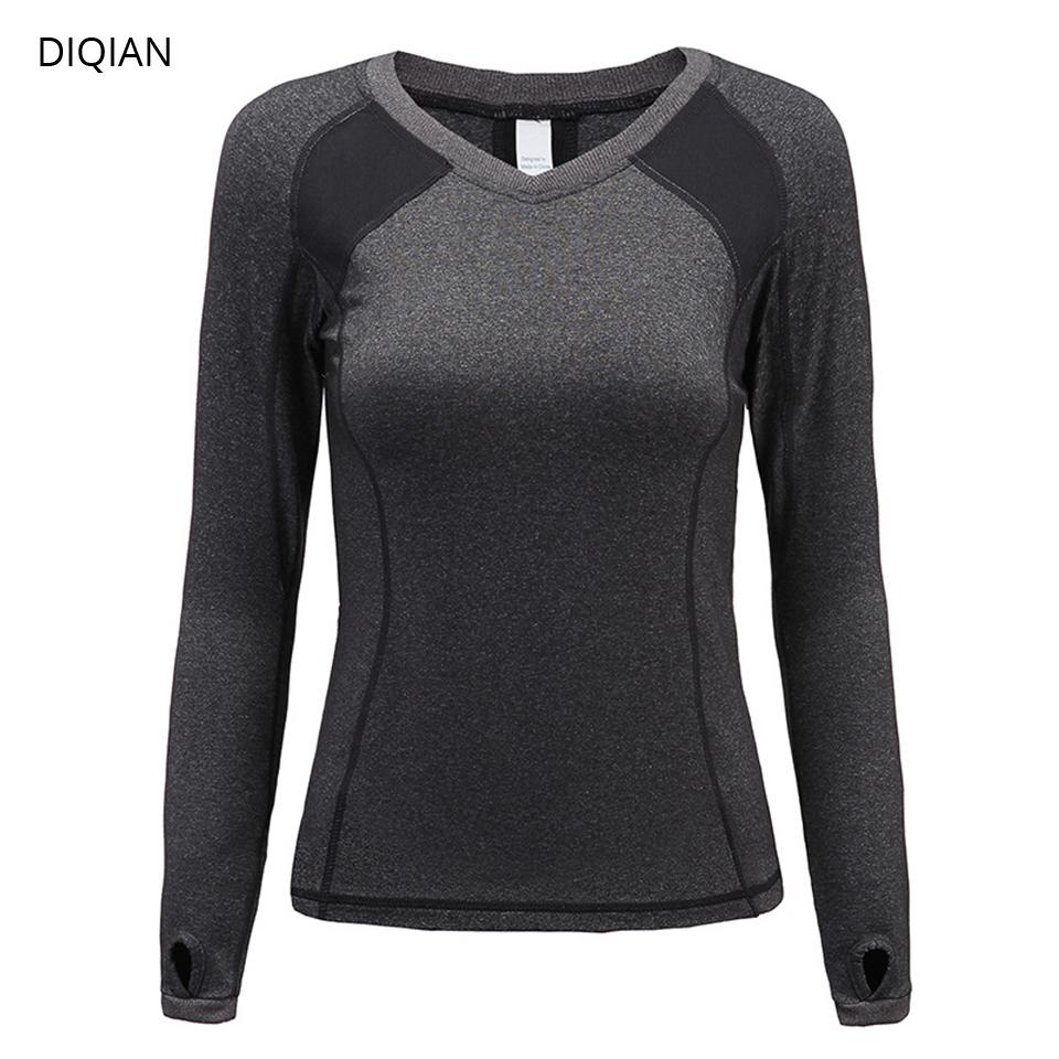 71ae566c 2019 DIQIAN Quick Drying Yoga Clothes Long Sleeve Women Yoga Running  Fitness Shirt Women Outdoor Quick Drying T Shirt From Bdsports, $30.27 |  DHgate.Com