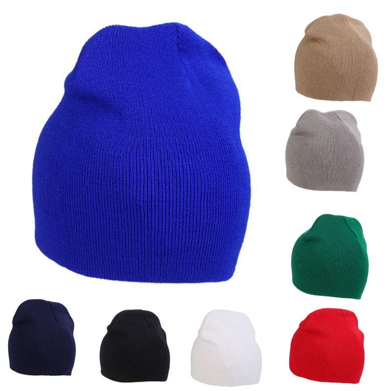 Compre Moda De Nova Mulheres Homens Inverno Sólido Chapéu Unisex Simples  Quente Macio Gorro De Malha Chapéus De Malha Bonnet Caps Xrq88 De Diedou eb97a733d92