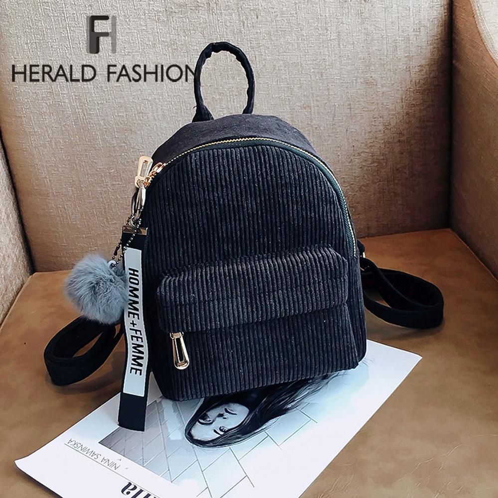 Herald Fashion Women Cute Backpack For Teenagers Children Mini Back