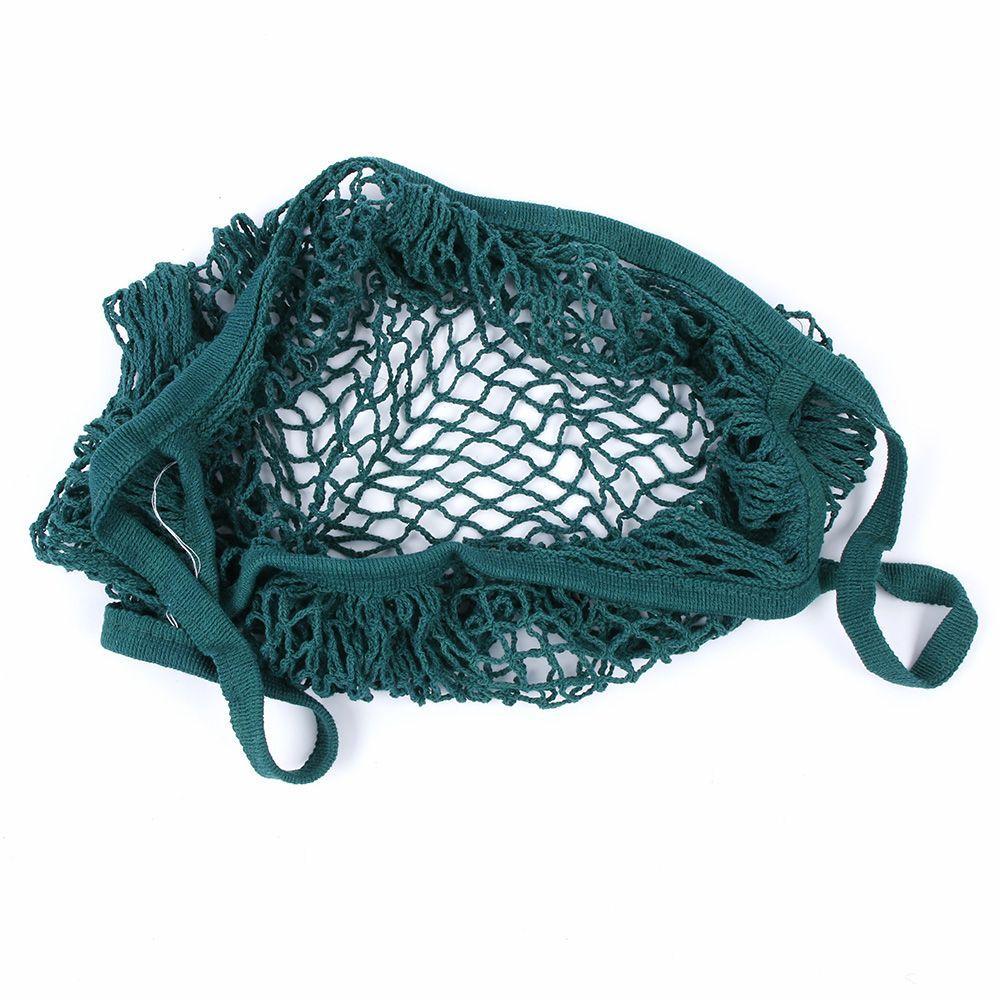 Brand New Reutilizável Cadeia De Compras De Compras Saco De Compras Tote Tote Malha Net Tecidos Saco De Algodão Mão Totes