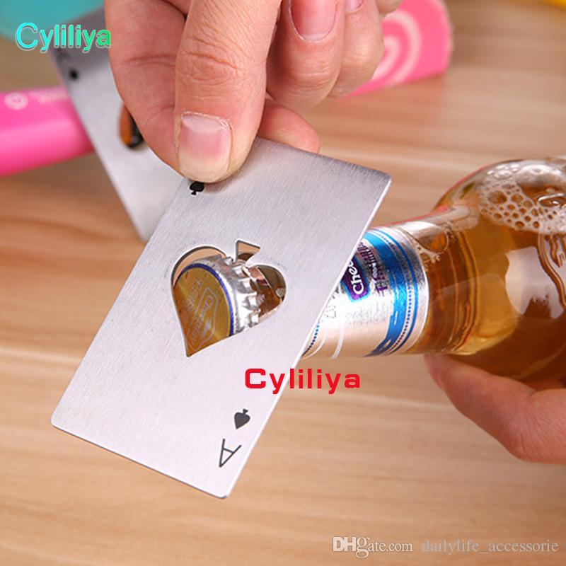 2018 لعبة البوكر بطاقة البستوني الفتاحات زجاجة البيرة الإبداعية المقاوم للصدأ فتاحة زجاجات شريط أدوات المطبخ لزجاجة البيرة