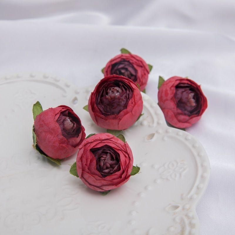 mini artificiais chá rose bud pequena peônia camélia flores cabeça de flor para a decoração da bola de casamento diy artesanato presentes para decoração do partido
