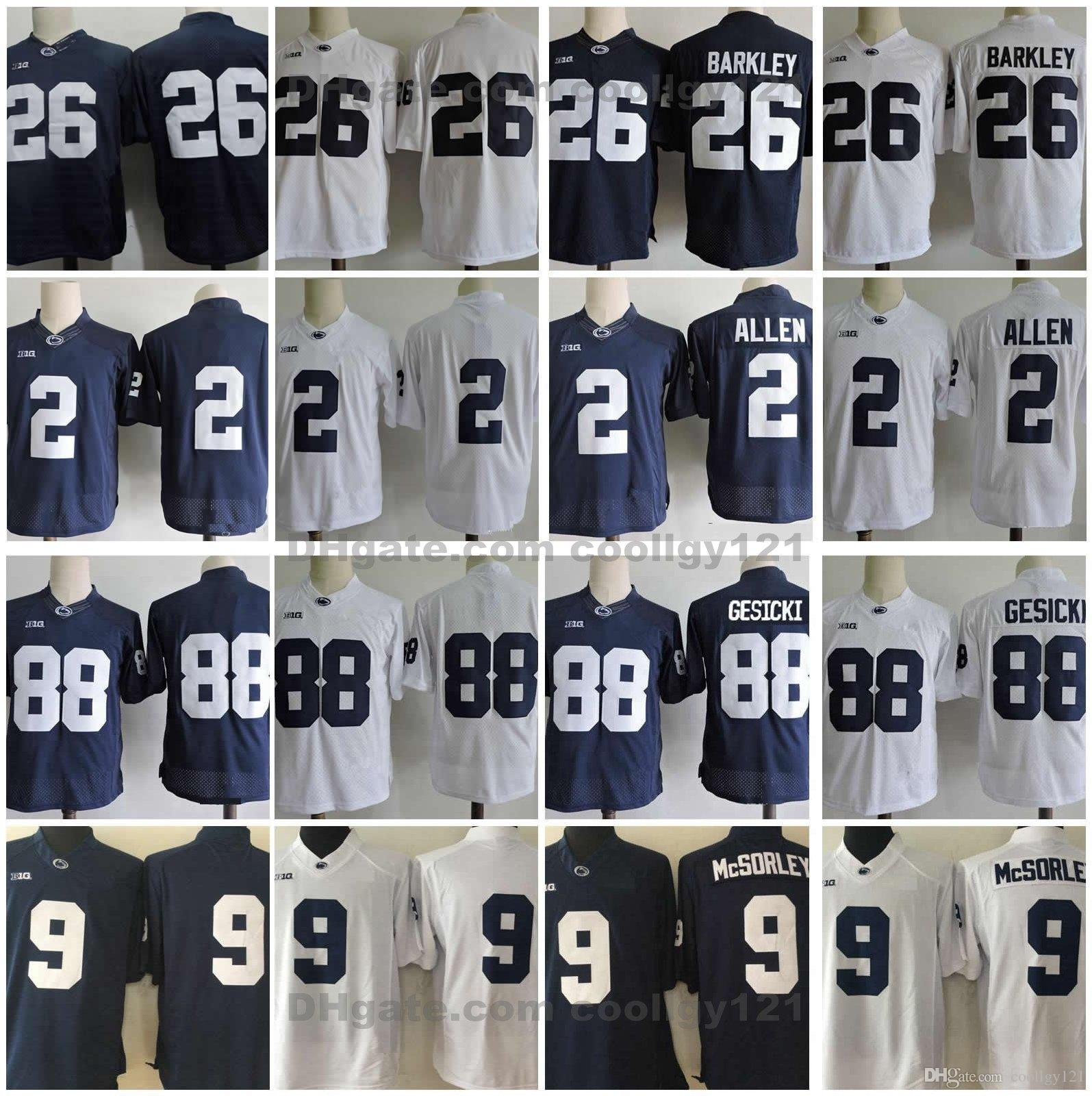 df7f38944 2018 Penn State Nittany Lions 26 Saquon Barkley Jersey 9 Trace McSorley 88  Mike Gesicki 2 Marcus Allen Stitched College Football Jerseys UK 2019 From  ...