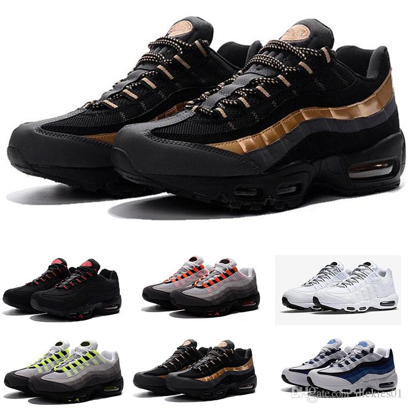 save off 7d20e be1ff Acquista Nike Airmax Air Max 95 Scarpe Da Corsa Da Uomo Di Alta Qualità  Airs Cushion 95 OG Sneakers Boots 95s New Walking Sports Shoes Size 36 46 A   106.6 ...