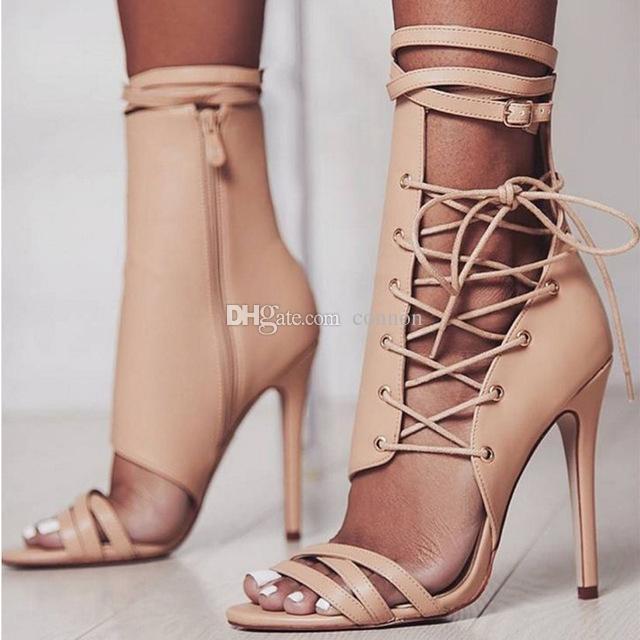 e6c3f6242a Compre Moda Feminina Sapatos Sexy Novos Saltos Altos Abertos Toe Plataforma Mulheres  Bombas Primavera Verão Sapatos Femininos Saltos Finos De Connon