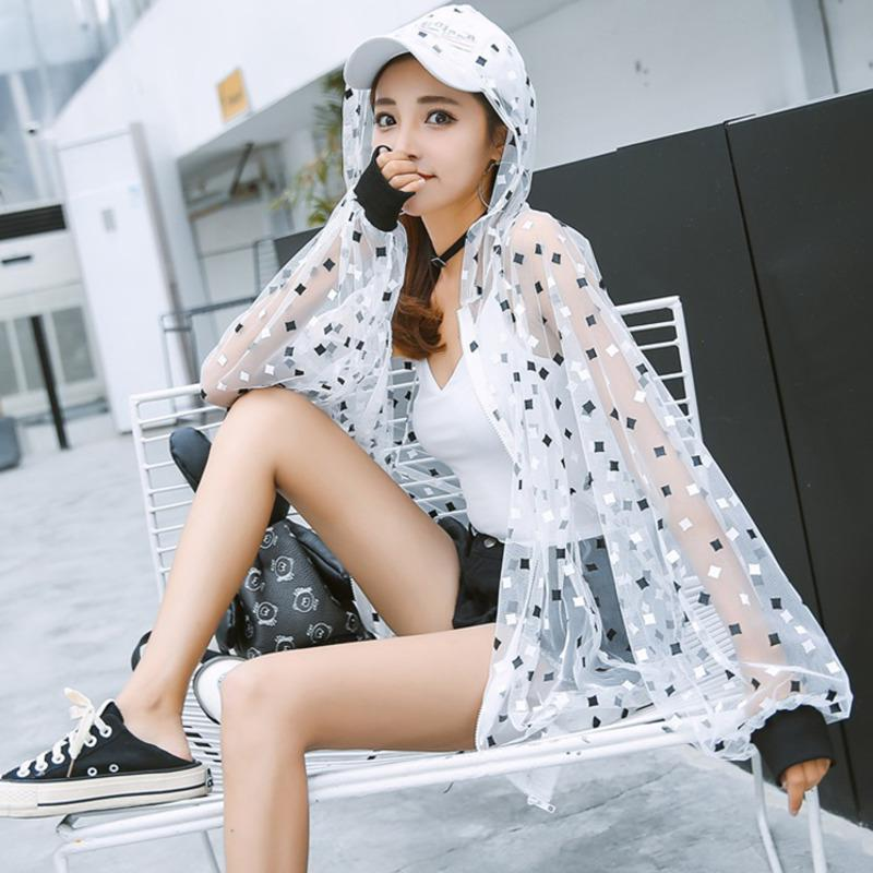 440ff3dfd073 Summer Autumn Harajuku Sun Protection Clothing Transparent Jacket Women  Loose Thin Hooded Jackets Coat Plus Size Casaco Feminino Mens Overcoats  Overcoats ...