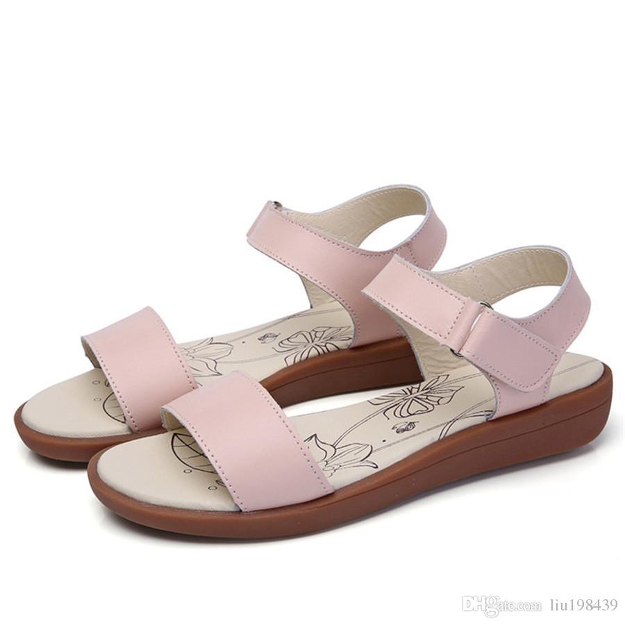 9c4e1c0b4eb89 Flat Female Sandals 2017 New Wild Students Simple Slip Toe Sandals ...