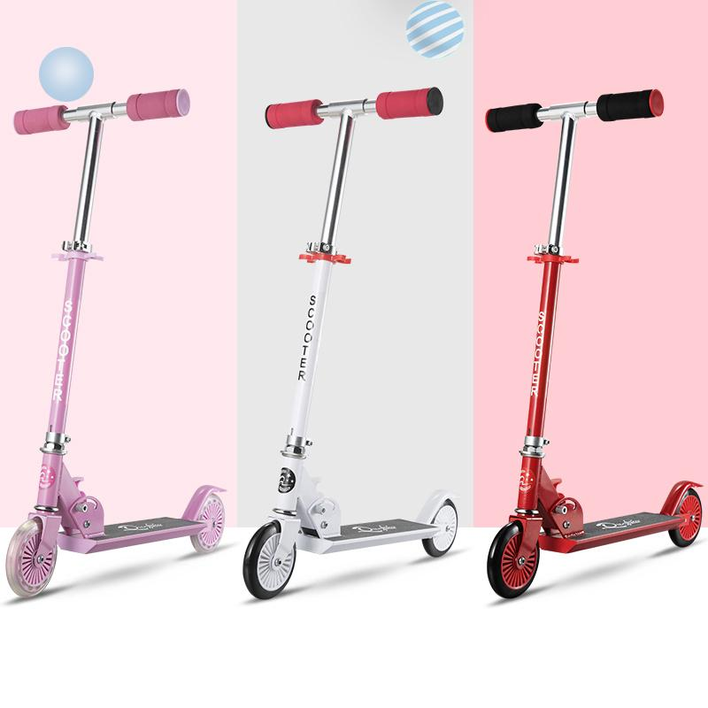 2018 Aluminum Alloy Folding Scooter Children Boy And Girl Two Wheel