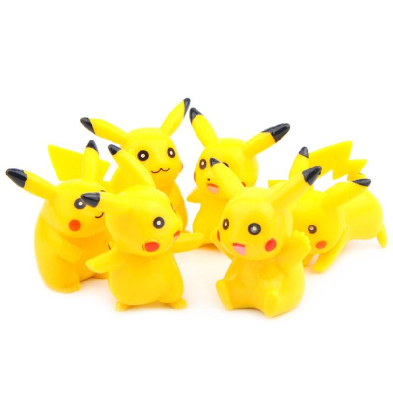 Pikachu doll wizard hand doll PVC Mini Model Toys cartoon toys animals for children gifts Action Figures Cartoon TV
