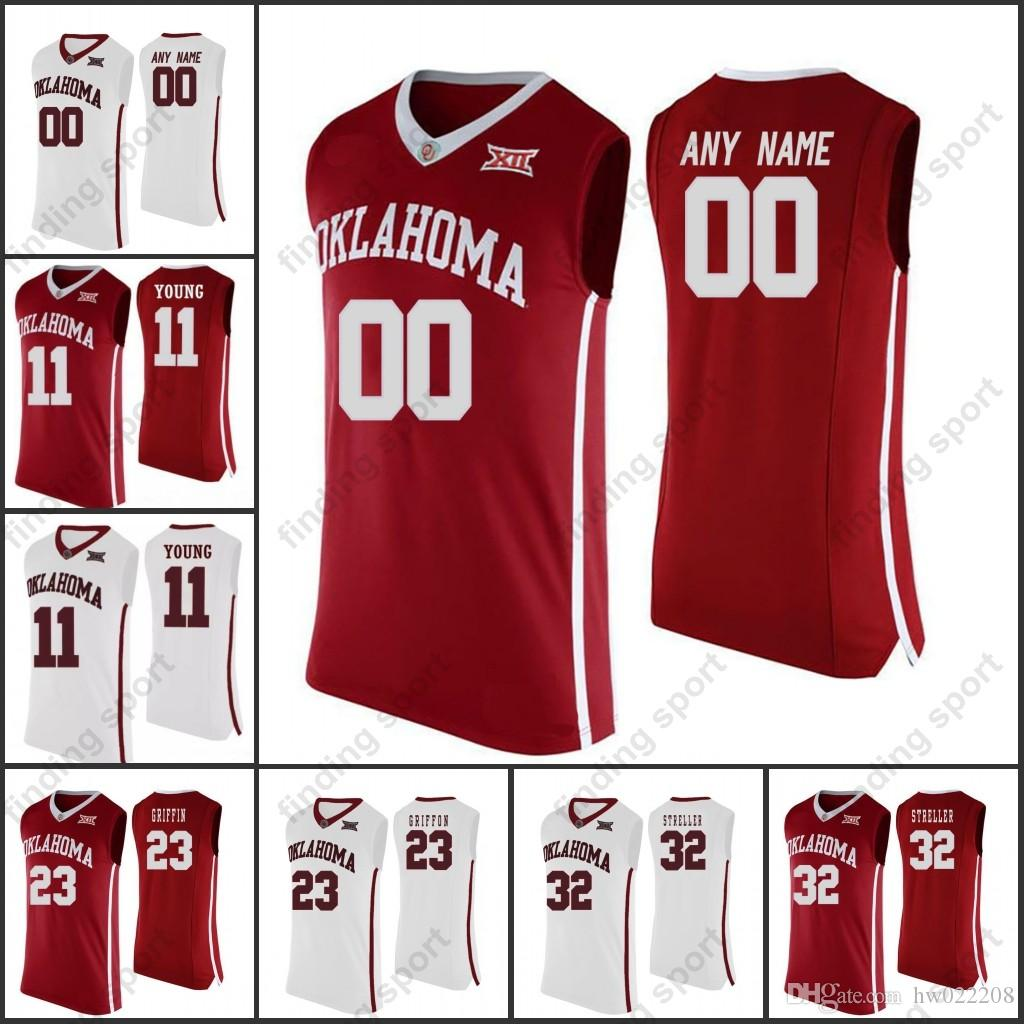 eba90170e16 2018 New NCAA Custom Oklahoma Sooners College Basketball 23 Blake Griffin 24  Buddy Hield 11 Young Any Name Number Jerseys Online with  27.33 Piece on ...