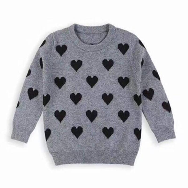 Baby Girls Sweaters Kids Pullover Sweater Children Cute Love Knitted
