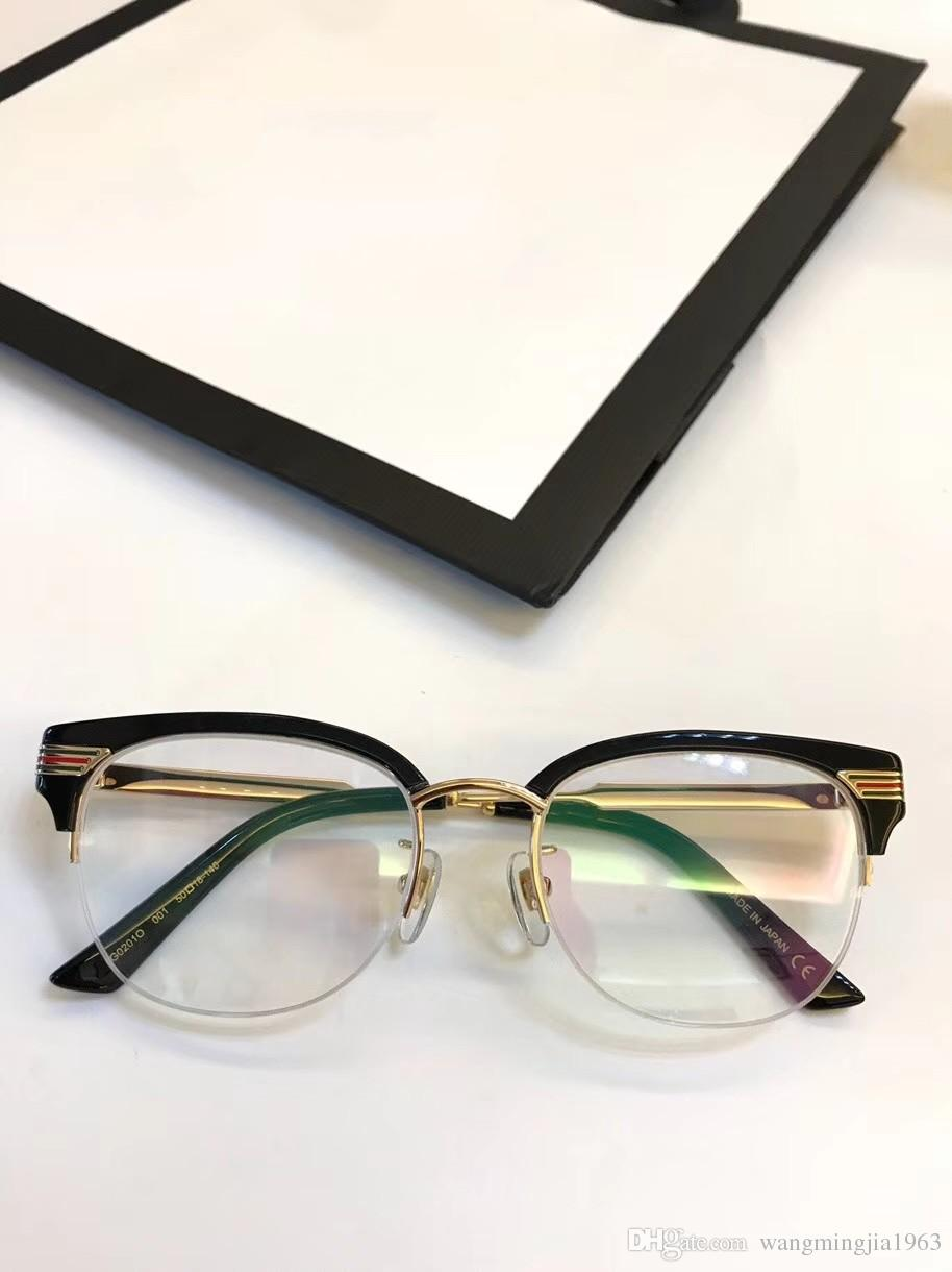 6625ba861fad 2019 Eyeglasses Frame Women Men Brand Designer Eyeglass Frames Designer  Brand Eyeglasses Frame Clear Lens Glasses Frame Oculos Gg0201 With Case  From ...