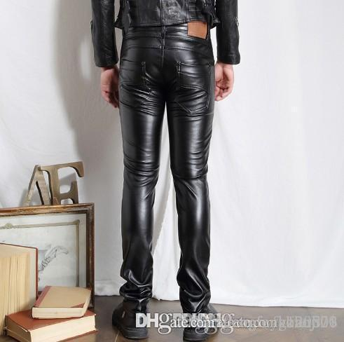 091ef42e Best Quality Wholesale 2018 Men Hip Hop Mens Leather Pants Faux Leather  Motorcycle Skinny Faux Leather Outdoor Pants Fashion Pants At Cheap Price,  Online ...