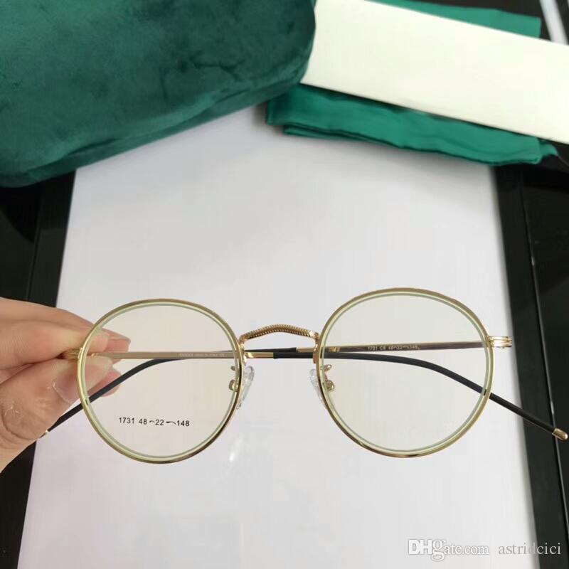 ceffdd501b Luxury Round Women s Eyeglasses Transparent Mirror Frame Retro Men ...