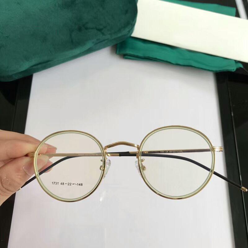 fe5b50a86572a Rodada de luxo Mulheres Óculos Transparente Espelho Moldura Retro Dos Homens  Das Mulheres Óculos de Lente Clara Óculos de Computador Quadro Anti-Fadiga  ...