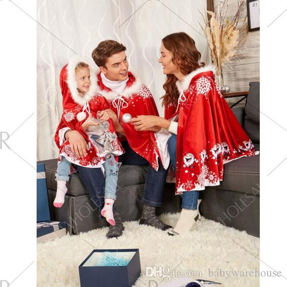 Compre Ropa De Navidad Familia Chales De Navidad Abrigos Trajes A