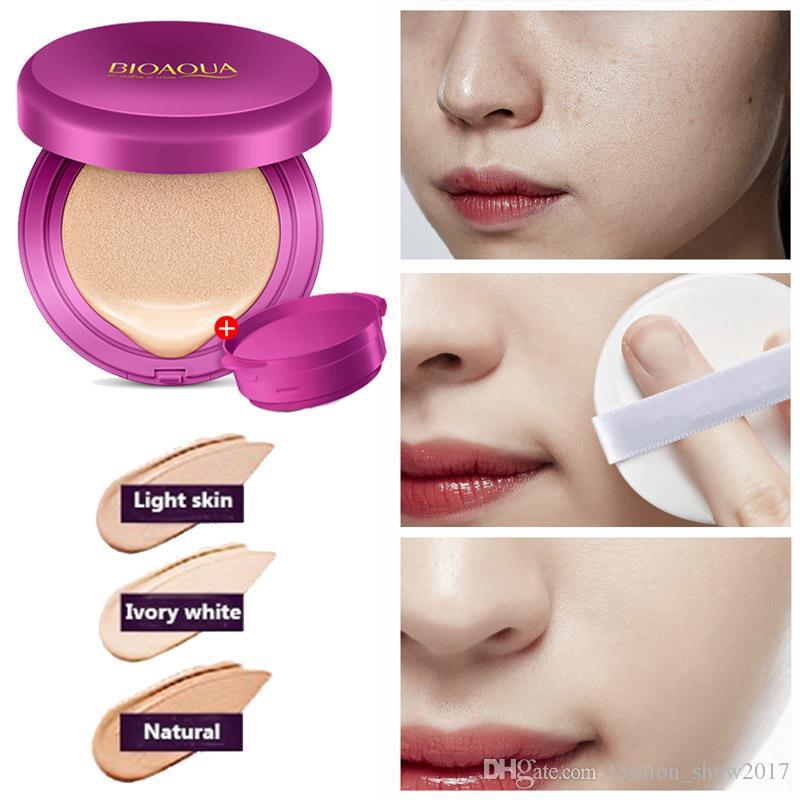Bioaqua Air Cushion Cc Cream Moisturizing Cover Whitening Foundation With Makeup Puff Sponge Korean New Popular Beauty Cosmetics