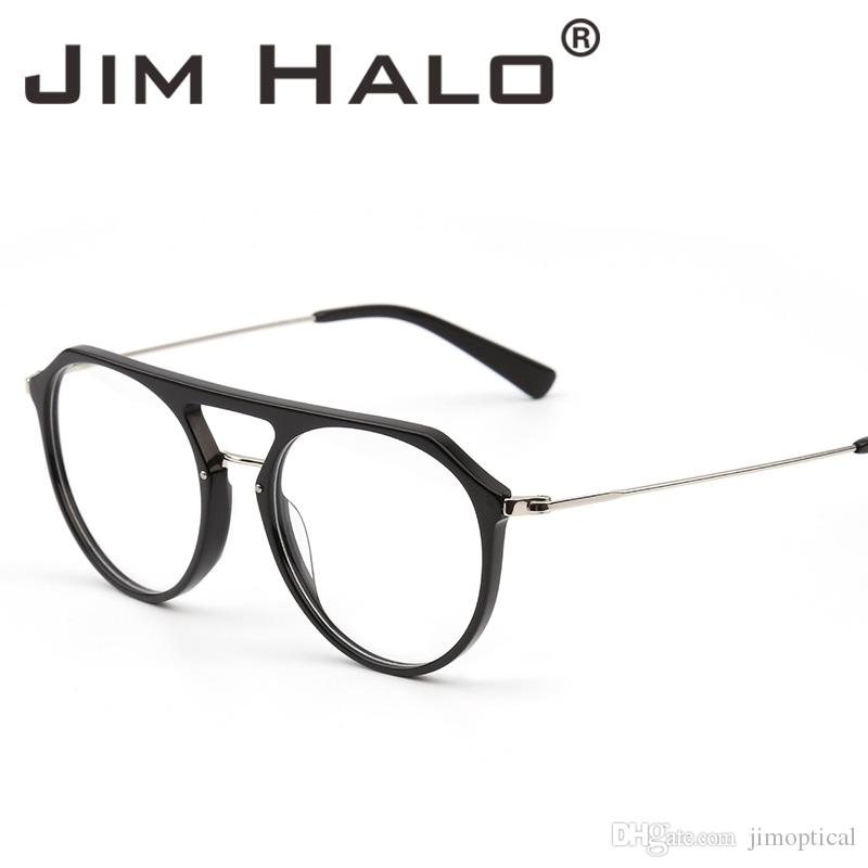659d039f5ff 2019 Jim Halo RX Glasses Frame Lightweight Round Rxable Eyeglasses Optical  Frame Men Women Sheet Metal Material Eyewear From Jimoptical