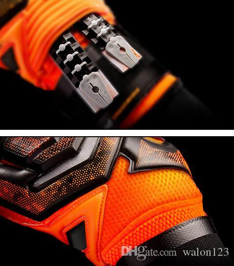 Marca profesional guantes de portero para hombres es Portero Guantes guantes de protección de los dedos de látex engrosada envío gratis