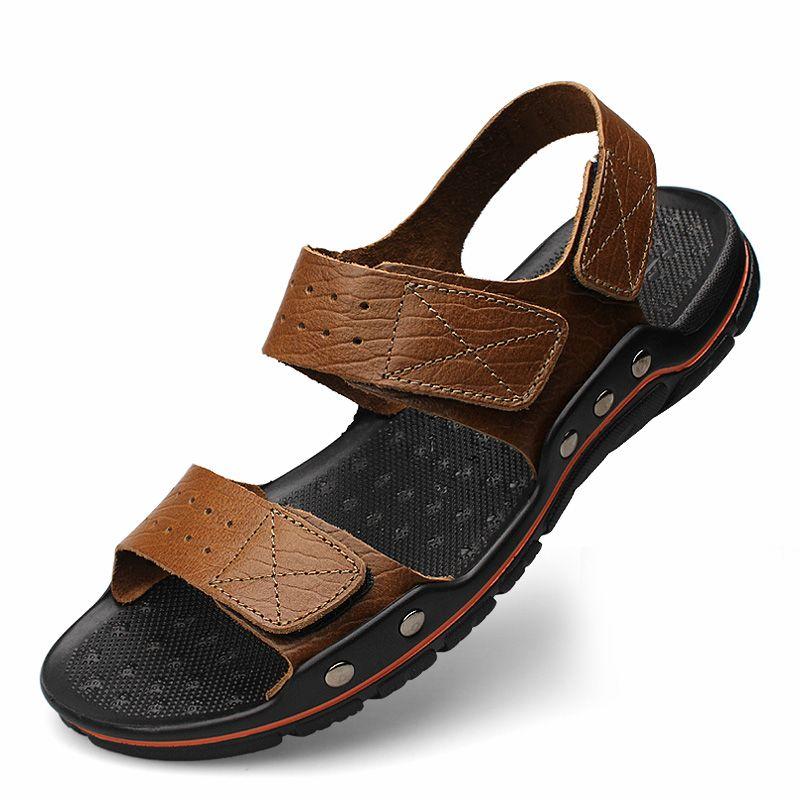 Für Aus Zapatos Sandalen 2017 Herren Alias Männer Leder Hombre Mode Euro38 Echtem 48 Schuhe Sommer Neue Strand PTOkuXZwi