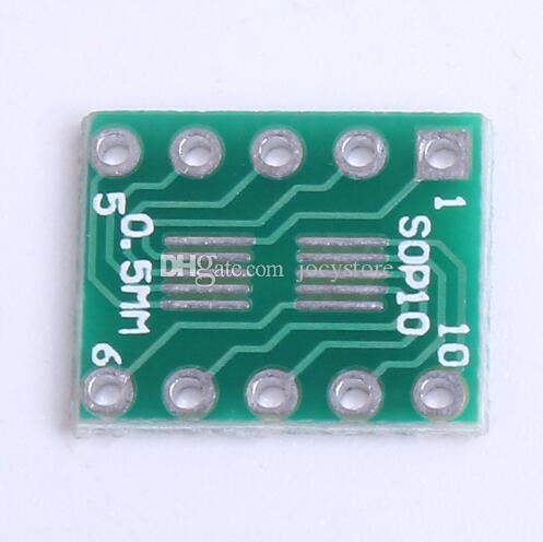 Ücretsiz kargo! 100 adet / grup DIP10 SOT23 SOP10 Umax SOP23 DIP10 Pinboard SMD DIP Adaptör Plakası 0.5mm / 0.95mm 2.54mm PCB kurulu dönüştürmek