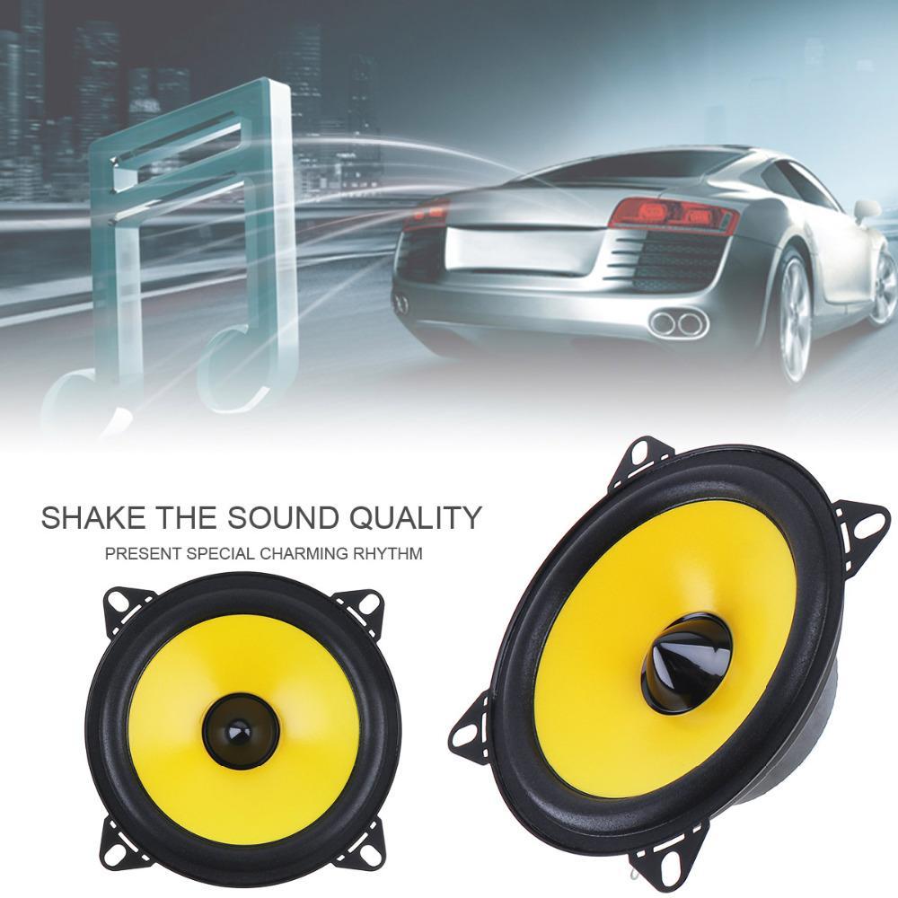 Car Audio Speakers 4 Inch 60W 2 Way Car Speaker Full Range Frequency Auto  Stereo Audio Loud Speaker Automotive Automobile Loudspeaker Sound System  Cars ...