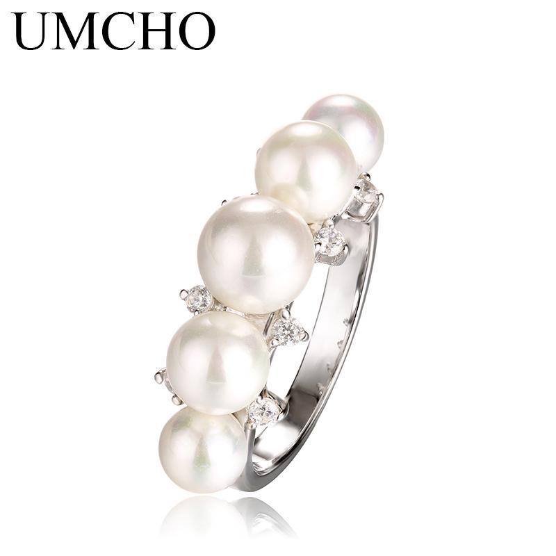 925 Sterling Silver Natural Freshwater Pearl Ring for Women Engagement Wedding Ring Love Party Fine Jewelry Wholesale haif
