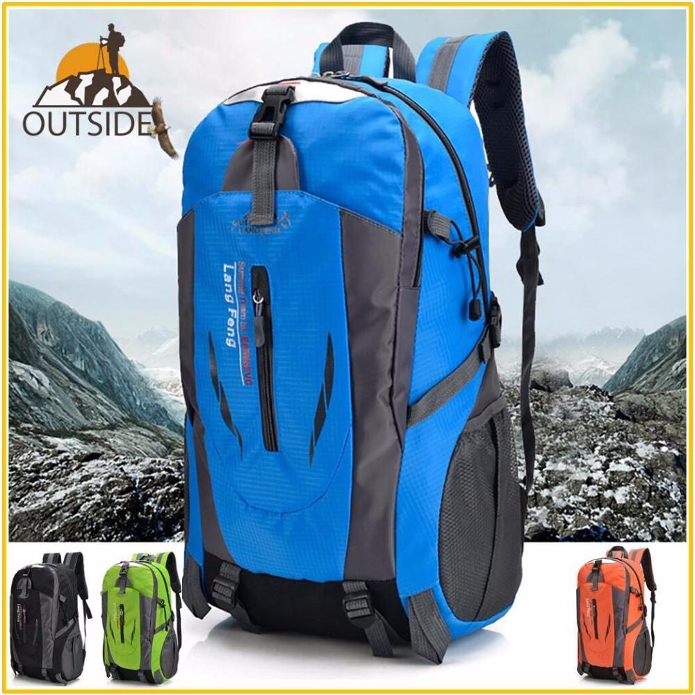 0f2da4792b83 40L Men Women Climbing Bag Outdoor Fishing Bags Waterproof Travel Trekking  Backpack Hiking Camping Rucksack Tactical Sports Bags Pink Backpacks  Daypack From ...