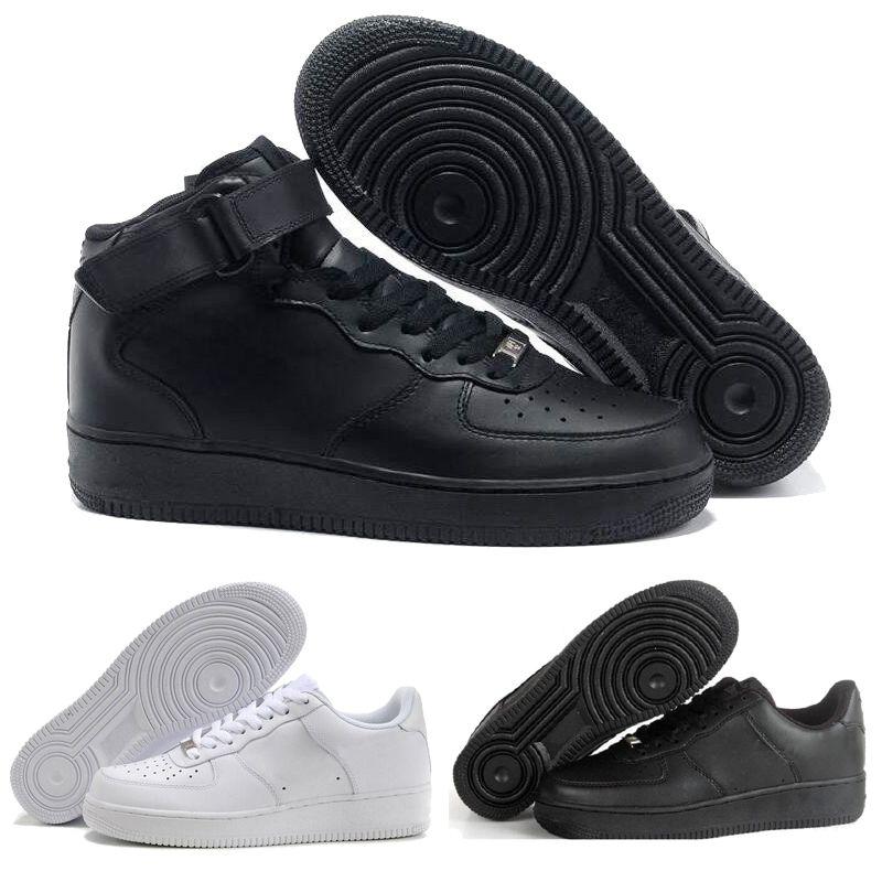 premium selection f85cf 714fe Compre Nike Air Force Af1 One 2018 Fuerzas Baratas Clásico Negro Trigo  Blanco Alto Bajo Hombres Mujeres Deportes Zapatillas Zapatillas De Deporte  Fuerza Af1 ...