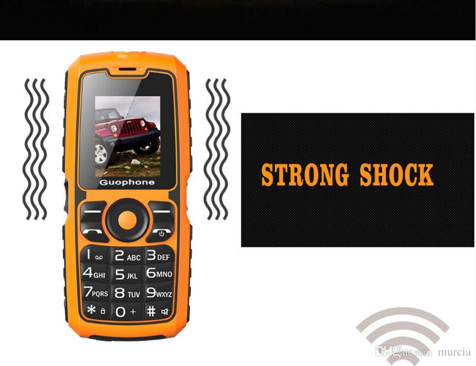 2018 New Guophone V3S Real WaterProof Tri-proof Power Bank Phone Shockproof Strong Flashlight Dual SIM dual standby 1.8 inch Cheap Phone