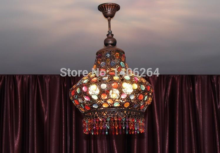 Plafoniere Led Vintage : 2018 bohemia vintage mediterranean sea colourfull crystal lamp