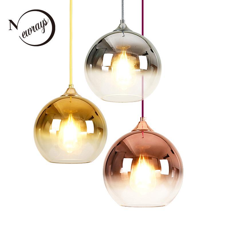 Original Modern Led Chandelier Nordic Deco Lighting Glass Ball Fixture Novelty Living Room Hanging Lights Restaurant Suspended Lamps Latest Technology Ceiling Lights & Fans