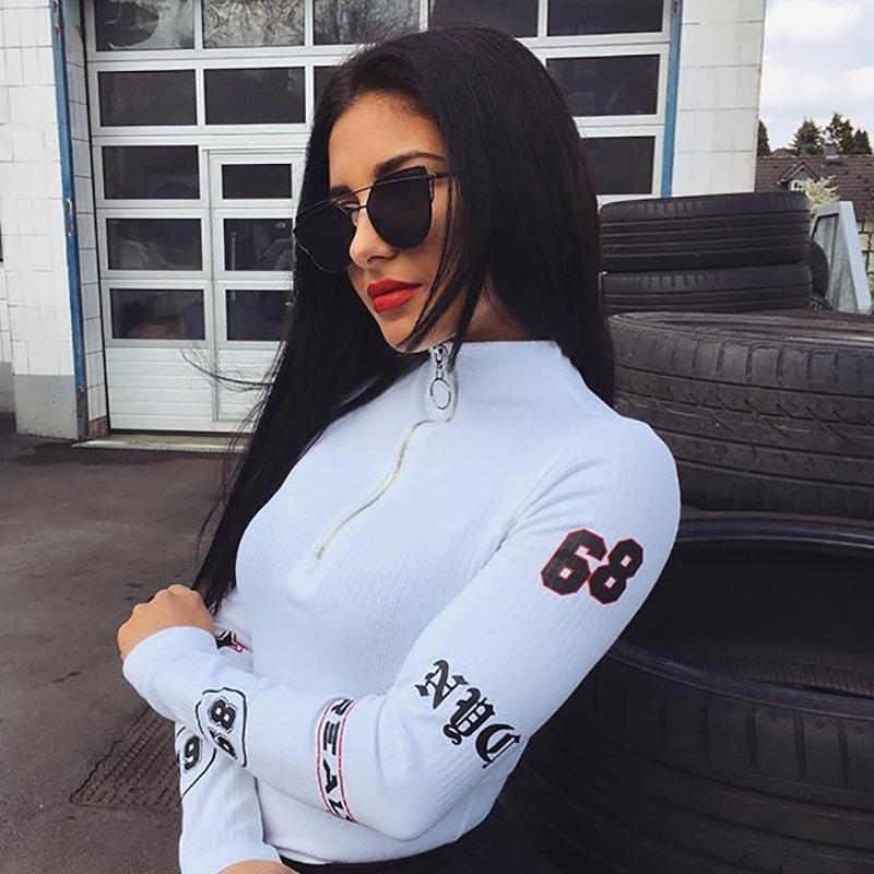 00d806b17ae 2019 European Station O Ring Zip Front Cut And Sew Sweatshirt Athleisure  Stand Collar Raglan Sleeve Sweatshirt Women Autumn Pullovers Tops From ...